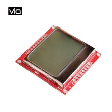 Arduino 5110 Free Shipping Smart Electronics LCD Module Display 84X48 84×84 LCD Module Red backlight adapter PCB for Nokia 5110