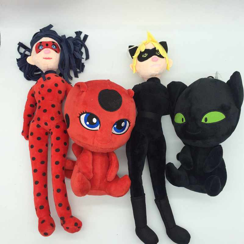 40 20cm Miraculous Ladybug and Cat Plagg and Tikki Noir plush Toy pendant clip keychain Lady