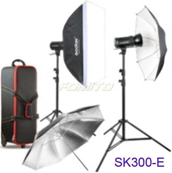 Godox SK300-E Studio Flash Kit Professional Studio Flash SK Series 2pcs*SK300 fash head 220V Power Max 300WS GN58