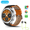 LEMSE LEM5 Android 5.1 Smart Watch MTK6580 1.3G Quad Core IP55 Waterproof Support Heart Rate Monitor GPS Weather Music Play
