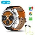 Lemse lem5 android 5.1 smart watch mtk6580 1.3g quad core apoyo ip55 impermeable pulsómetro gps tiempo de reproducción de música