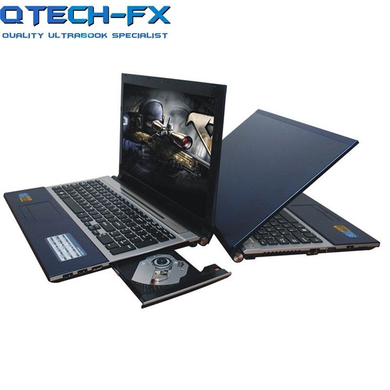 Grande 15,6 portátil SSD 512 GB/256GB RAM 8GB de Metal CPU Intel 4 núcleos juegos de PC teclado español ruso árabe