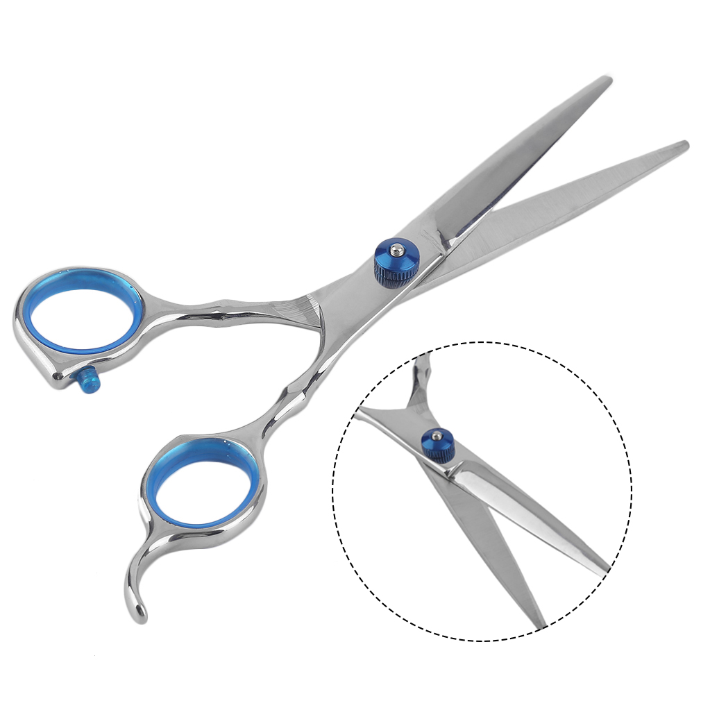 Купить с кэшбэком Lightweight 6 Inch Stainless Steel Teeth Cut/Flat Cut Type Hair Styling Beauty Salon Hairdressing Scissor For Barber Shop