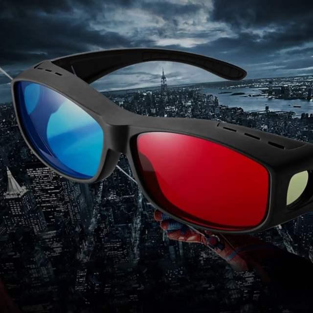 a7101278edbf1 2017 Fresco Tipo Universal 3D Óculos Vermelho Azul Ciano Anaglyph 3D  Plástico Óculos TV Movie DVD