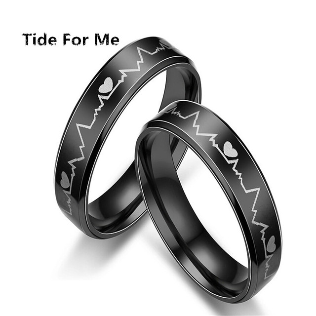 2017 New Fashion Charms Rings For Women Mood Elegant Heart Stainless Steel Rings