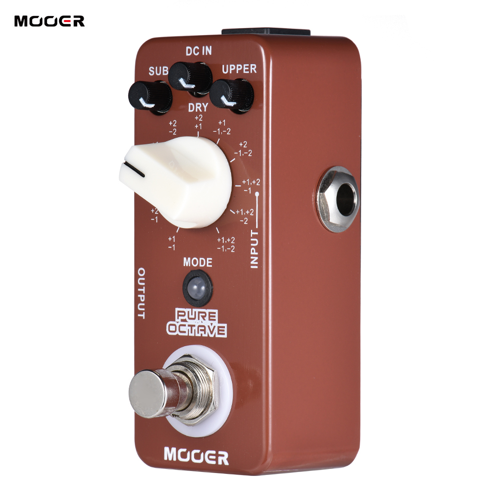 MOOER PURE OCTAVE Mini Octave Guitar Effect Pedal 11 Octave Modes True Bypass Full Metal Shell