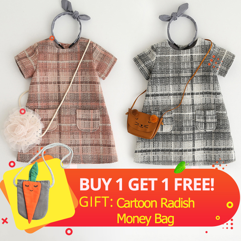 Bear Leader Girls Dress 2018 New Fashion Kids Plaid Dresses Design for Baby Girls Dress Children Clothing bear leader girls dress new autumn england style princess dresses petal sleeve design plaid printing for children clothing