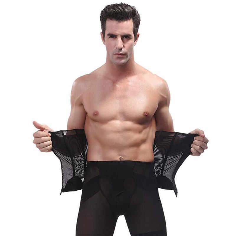 e60101d585 ... Male Waist Trainer Steel Bone Vest Body Shaper Tummy Tuck Belt Weight  Loss Corset Belly Reducer ...