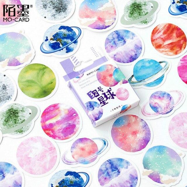 45 unids/set kawaii cuaderno de moda lindo patrón de estrellas diario planificador Oficina Decoración suministros escolares papelería