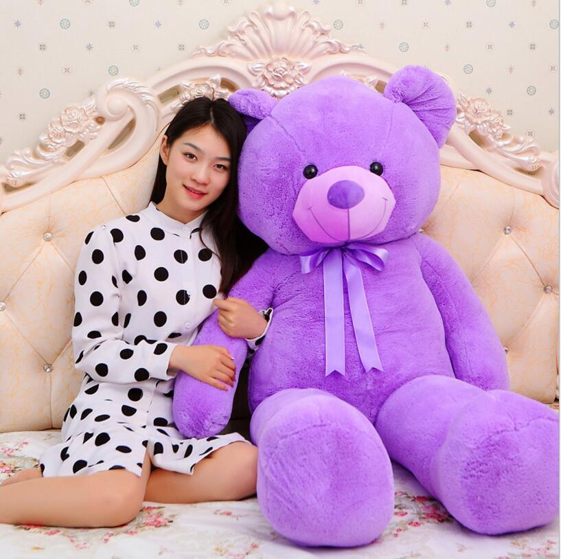 Kawaii Teddy Bear Doll 200CM Giant Size Teddy Bear Stuffed Doll Plush Toys Teddy Bear Doll Plush toys for girls children gifts kawaii 140cm fashion stuffed plush doll giant teddy bear tie bear plush teddy doll soft gift for kids birthday toys brinquedos