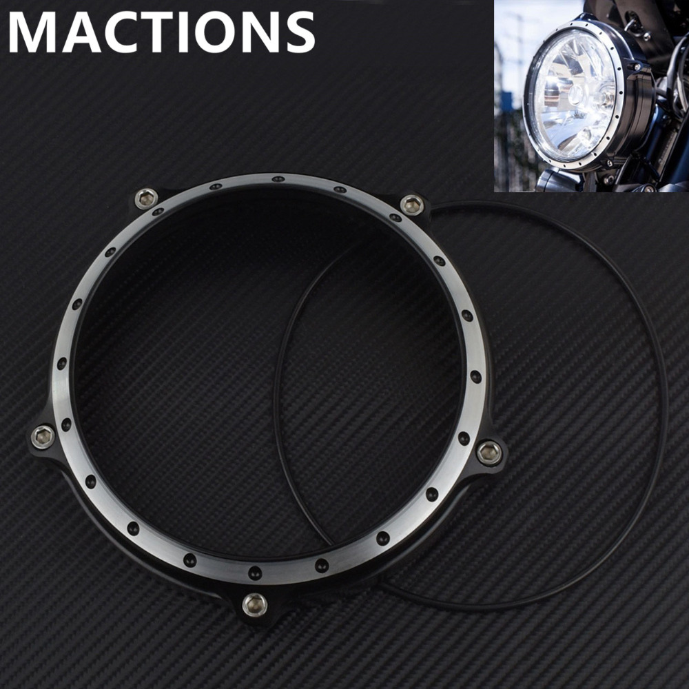 Motorcycle 5 75 Vintage Headlight Bezel Headlight Lamp Bezel Trim Ring For Harley Sportster XL 883