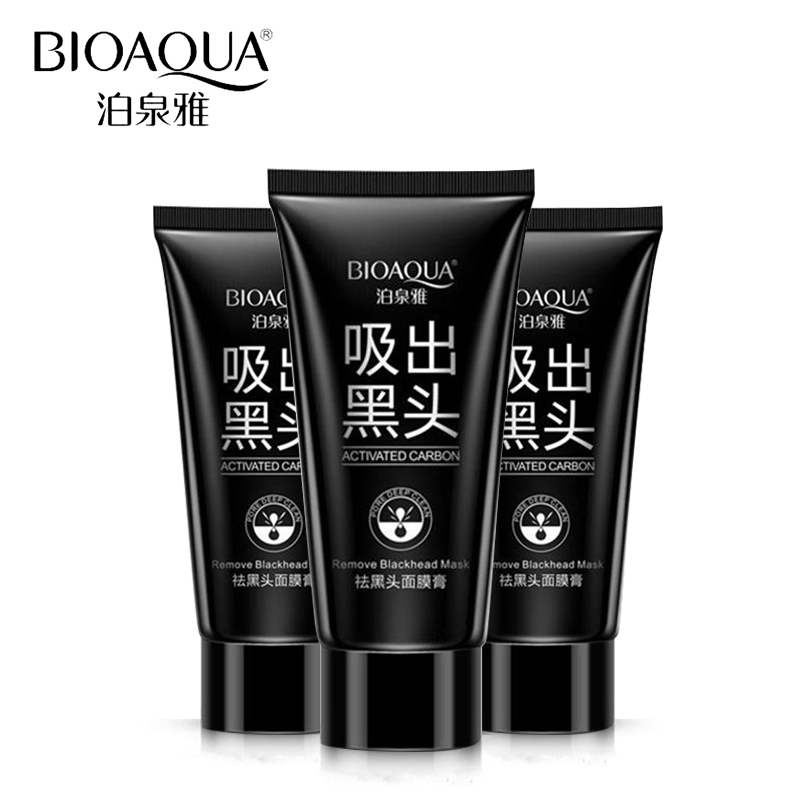 BIOAQUA Brand Skin Care Facial Blackhead Remover Deep Cleaner Mask Pilaten Suction Anti Acne Treatments Black Head Mask 60g