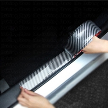 Car Stickers Carbon Fiber Styling Door Sill Body Protector Goods For BMW Audi a3 Ford Focus Opel astra VW golf 4 etc Accessories car styling racing sticker body waist car door side scratches decorative decals hood stickers for ford vw bmw audi mazda subaru