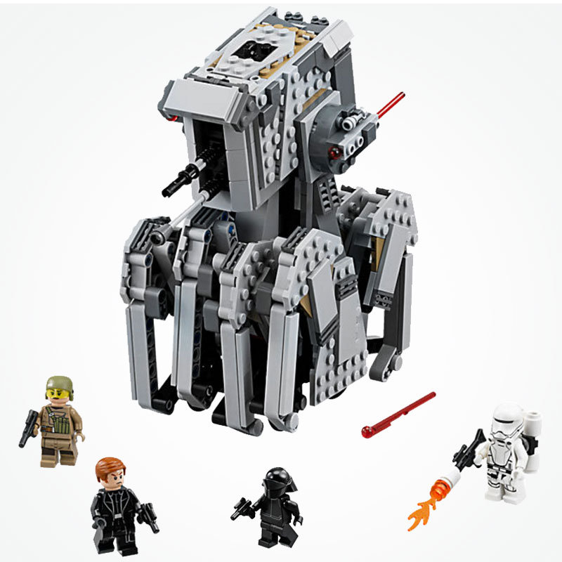 Lepin 05126 Star Wars The Force Awakens First Order Heavy Scout Walker Adult Youth Building Toys Gifts Legoe Starwars 75177
