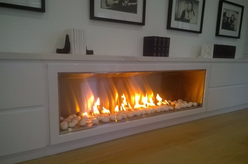 Inno-living 72 Inch Built-in  Intelligent Electric Fireplace Bioethanol With Ethanol Burner