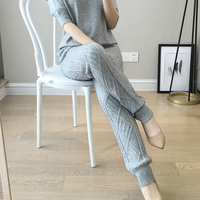 BELIARST Spring and Autumn New Wool Pants Women Wearing Harem Pants Long Cashmere Wool Pencil Pants Knitted Feet Pants Thicken