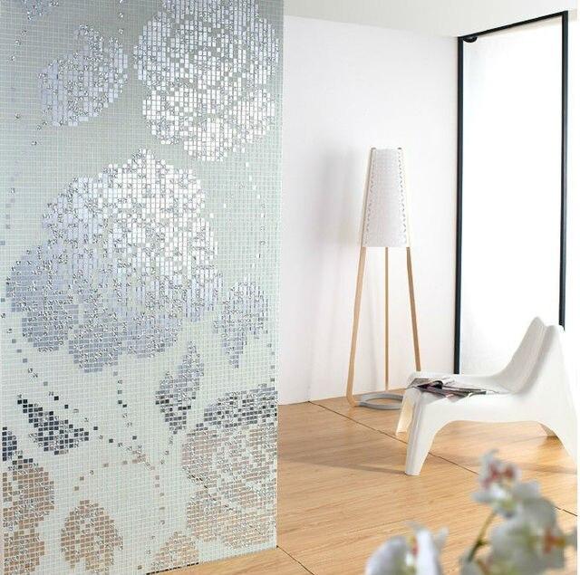 Lieblich Weiß Und Silber Kristallglas Mosaik Fliesen Muster Design Spiegel Wand Backsplash  Fliesen Wand Dekorative Versilbert