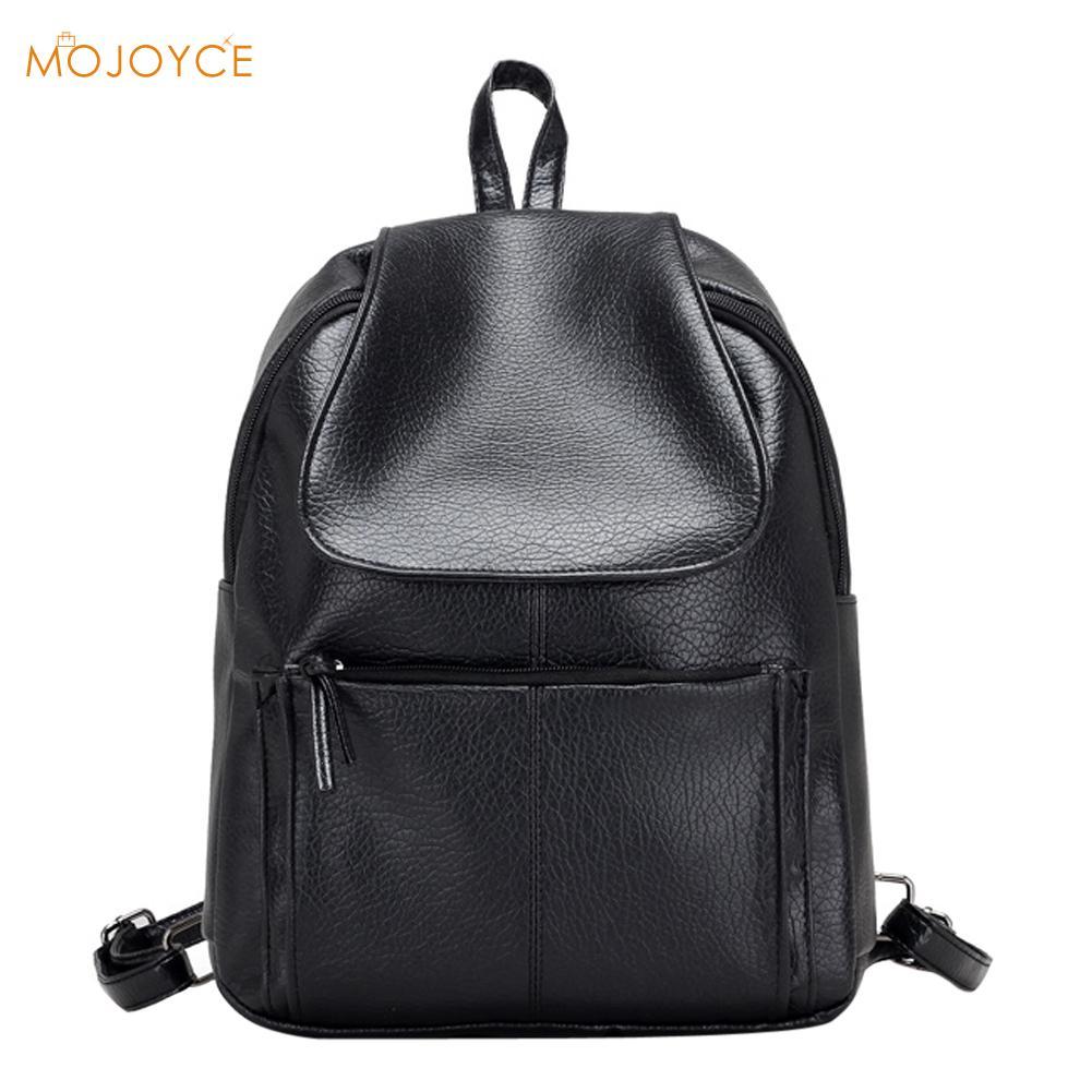 Fashion Waterproof Female Backpack PU Leather Backpack Fashion School Bags For Teenage Girls Leisure Women Backpack