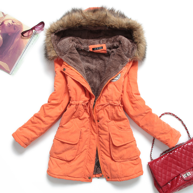 Winter Jacket Women Thick Warm Hooded Parka Mujer Cotton Padded Coat