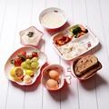 Hello Kitty Children's tableware melamine tableware child tableware bowl platter plate drop resistance baby birthday gift