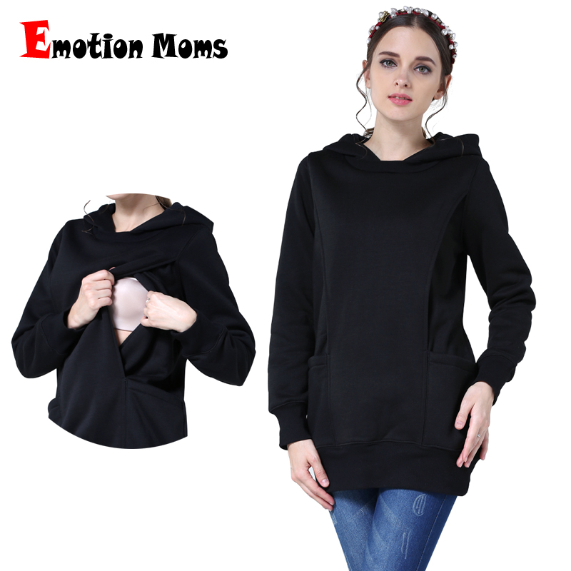 Emotion Moms Thickening Maternity clothes Breastfeeding Tops for Pregnant Women Pregnancy Clothing Maternity Hoodies Sweater