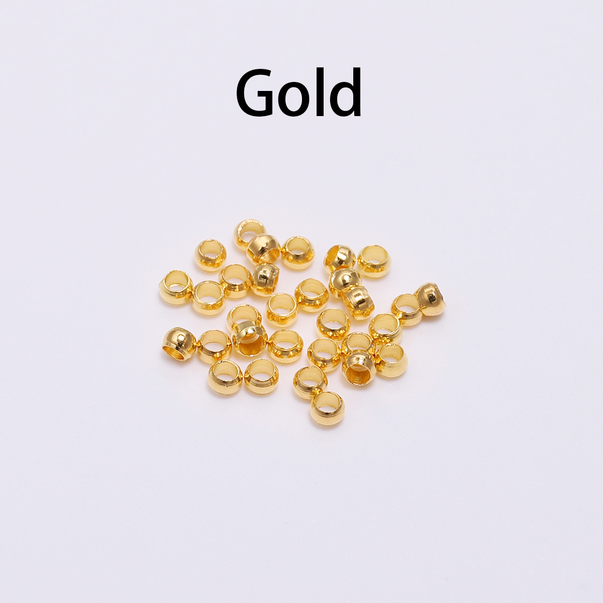 500pcs lot Gold Silver Copper Ball Crimp End Beads Dia 2 2 5 3 mm Stopper