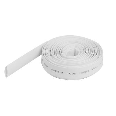 Ratio 2:1 9mm Dia White Polyolefin Heat Shrinkable Tube 10M Long ratio 2 1 7mm dia yellow polyolefin heat shrinkable tube 10m