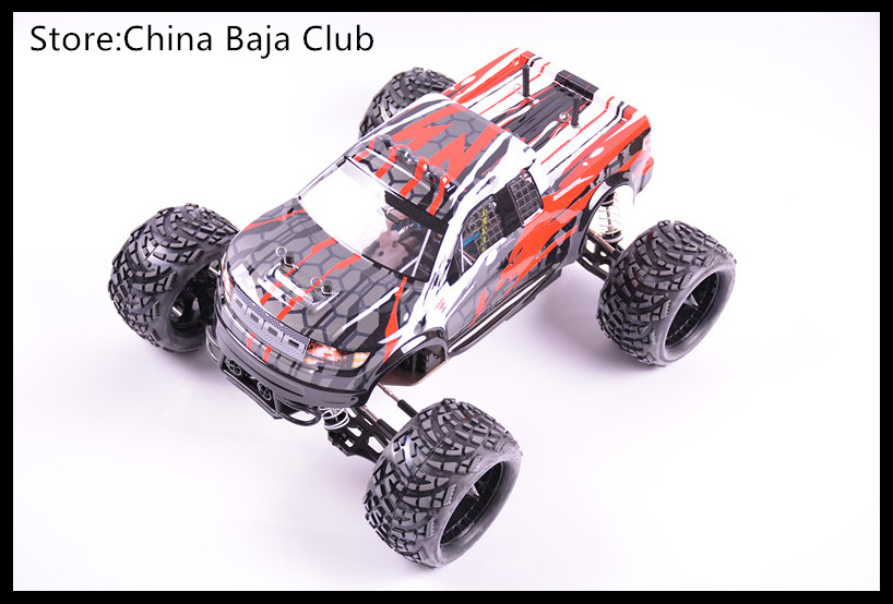 1/10 RC Nitro Power GO18 Engine Remote Monster Truck Baja Metal Gear двигатель super tigre 18 nitro купить