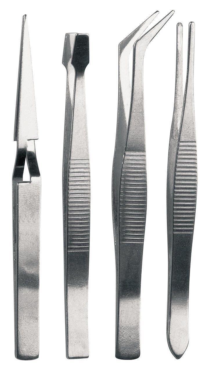 4Pc Tweezers Set DIY Crafts Modelling Soldering Trade Work Tool optical tweezers
