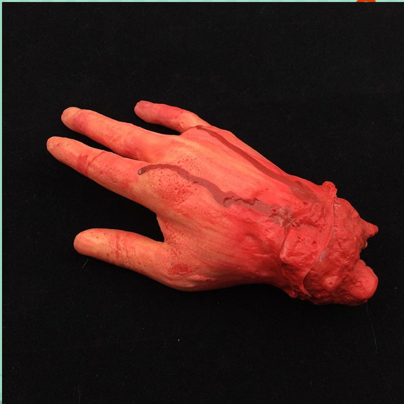 Halloween April Fool 's Day tricky mischief Scary Props Toy Latex Bloody Cut artificial Broken hands fingers walking dead zombie
