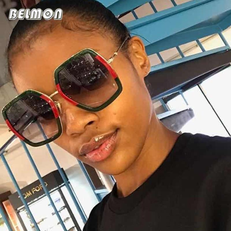 Belmon Sunglasses Women Fashion Oversized Luxury Brand Designer Sun Glasses For Ladies Vintage de sol Shades Female RS396