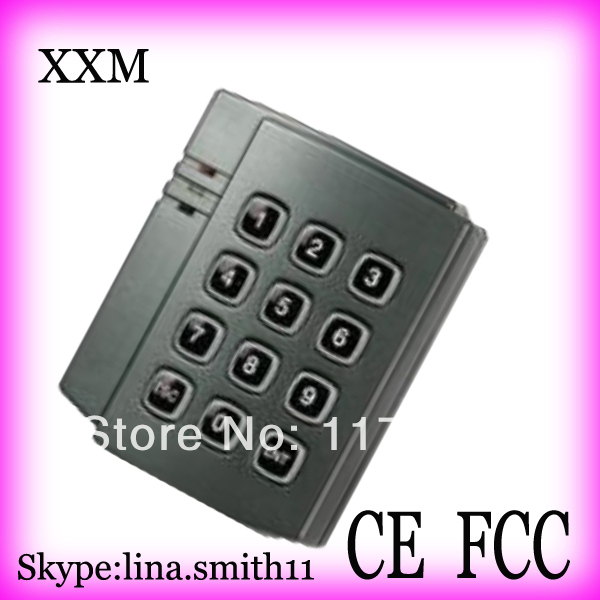Cheapest Promixity Card Reader with keypad ID EM card reader 125khz wiegand 26 output access control X006 contact card reader with pinpad numeric keypad for financial sector counters