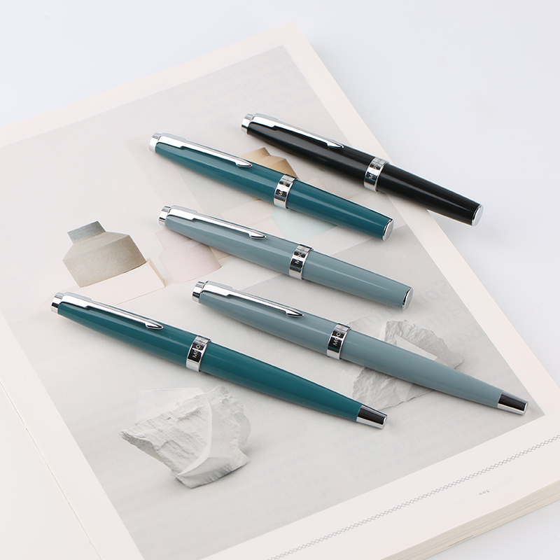 Pluma estilográfica de Punta corta de medio corte de 80 S/Mini pluma de tinta de cuenta de mano de bolsillo Punta fina de iridio para estudiante adulto con caja de regalo