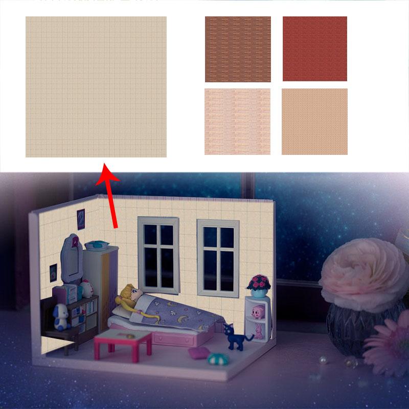 Мини Кукольный дом обои стикер Кукольный дом украшения аксессуары игрушки для детей подарок
