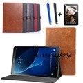 """De lujo de alta calidad funda de piel Para Samsung Tab Un a6 10.1 """"cubierta para samsung galaxy tab 10.1 t580 t585 t580n soporte elegante de la caja"""