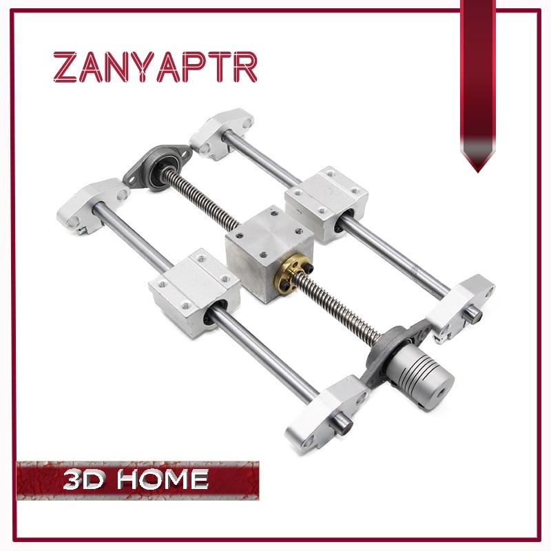 3D Imprimante Rail de Guidage-T8 Vis 200/300/400/500mm + axe Optique + KFL08 support de palier + Vis Écrou Logement Support De Montage