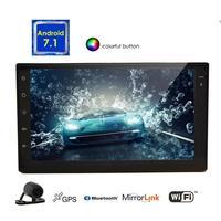 Android 7,1 автомобильный стерео сенсорный экран автомобильное радио видео gps навигатор головное устройство Поддержка Wifi/Mirrorlink/BT/камера заднего