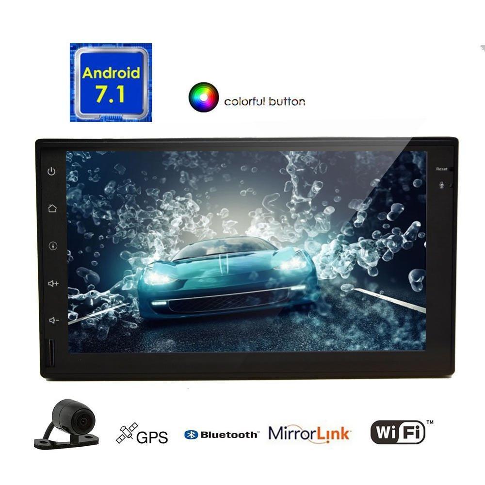 Android 7.1 car Stereo touchscreen Automotive Radio Video GPS Navigator Head Unit Support Wifi/Mirrorlink/BT/Reversing Camera