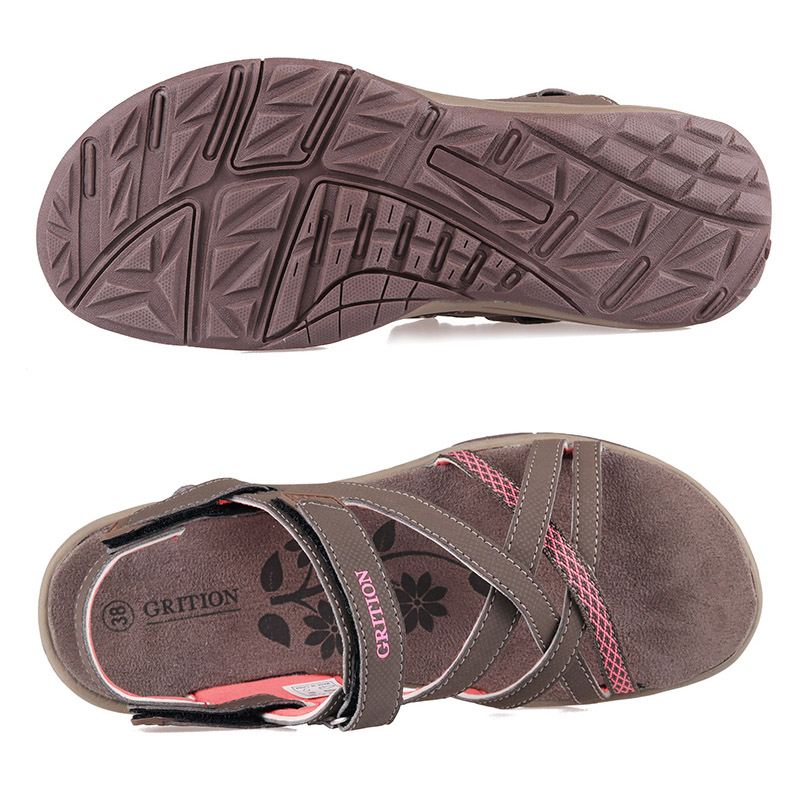 Image 5 - GRITION Women Sandals Summer Sport Flat Breathable Beach Shoes Outdoor Footwear New Brand Designers Hiking Trekking Sandals 2020Beach & Outdoor Sandals   -