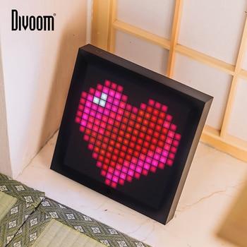 Divoom Pixoo pixel art bluetooth draadloze LED digital panel klok Alarm pak voor Android en IOS systeem gecontroleerd door App DIY