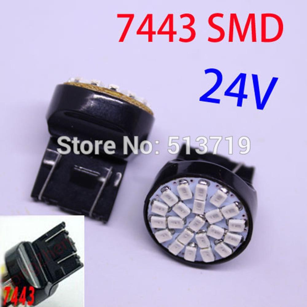 Dongzhen 1PCS T20 W21 / 5W 7443 22 1206 SMD LED Luz de freio - Faróis do carro - Foto 1