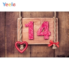 Yeele 14th Birthday Party Photocall Retro Wood Love Photography Backdrops Personalized Photographic Backgrounds For Photo Studio