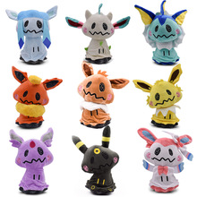 9 Styles Mimikyu Cosplay Eevee Umbreon Flareon Vaporeon Glaceon Jolteon Espeon Leafeon Animal Stuffed Plush Quality Cartoon Toy 9 styles 20 30 cm plush hot toys mimikyu cosplay sylveon umbreon eevee espeon vaporeon flareon leafeon stuffed animal soft dolls