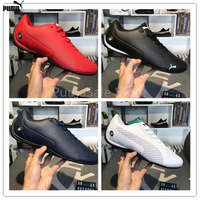 d3e4f955eb4 2018 Puma Future Cat Leather SFx Bmwmotorcycle Men Racing Shoes Autumn  Winter Sneakers Whole Leather Skin Badminton Shoes 39-45