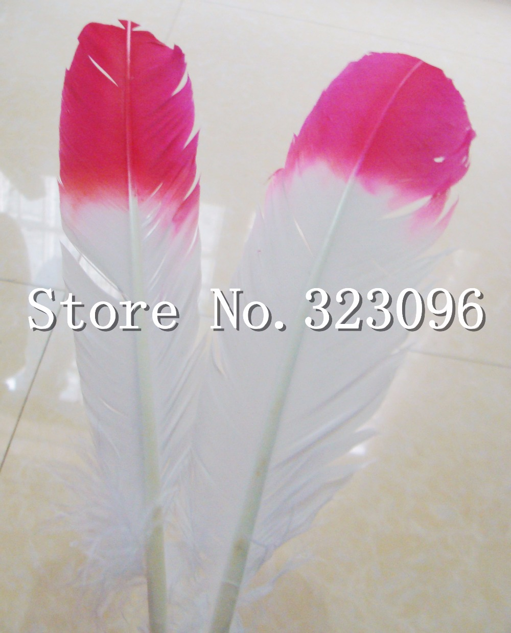 Free shipping 20pcs wholesale Appox 30cm red&white real natural turkey feathers plumes hair extensions goose feather for sale