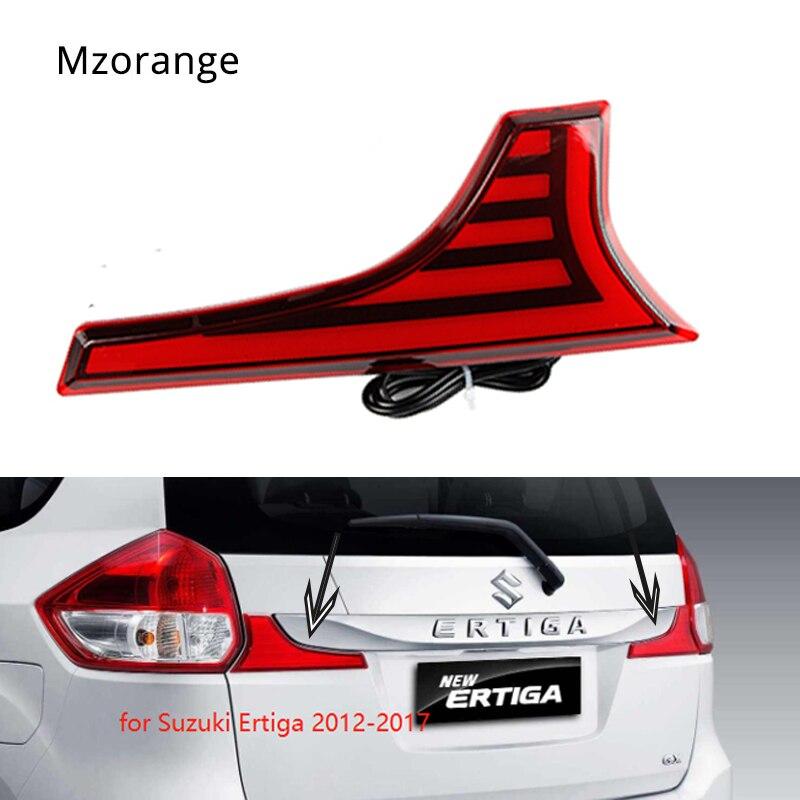 MIZIAUTO 2PCS Tail Light Bumper Reflector LED for Suzuki Ertiga 2012-2017 Brake SCROSS VITARA 2015 2016 SX4