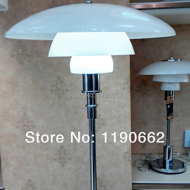 Free Shipping Denmark Opal Glass Soft Lighting Ph Floor Lamp Home