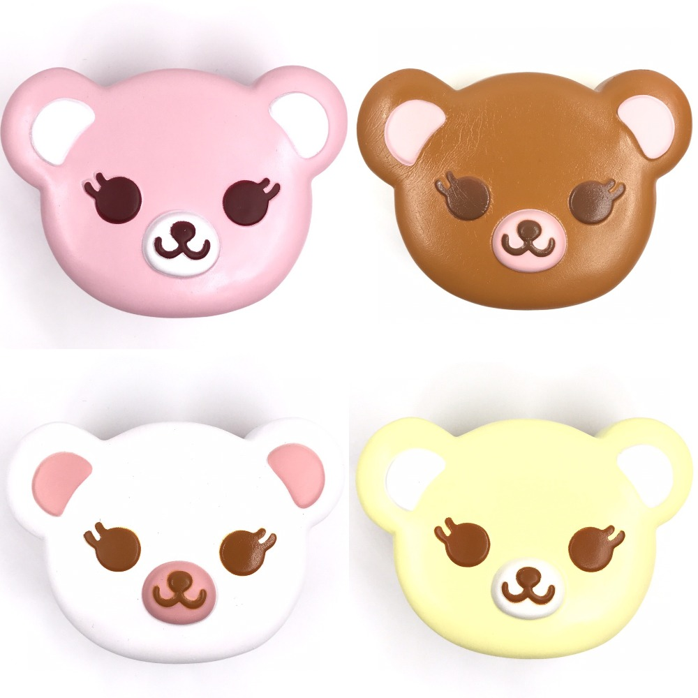 Original Ibloom Tea Time Bear Squishy Scented Original Package Bear Squishy Kawaii Squishies Cake Bread Key Chain Kids Toys
