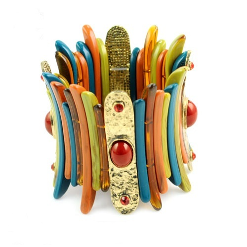 Women adjustable size indian ethnic wind tone stretchable cuff bangle bohemian bracelet  BR-1259