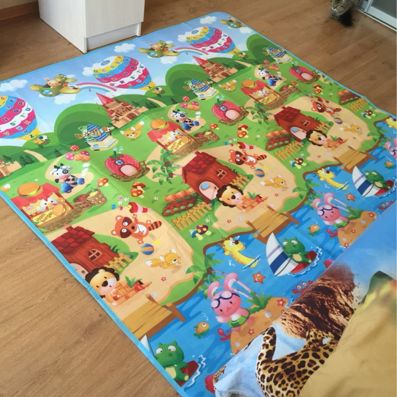 180cm Infant Play Mat Children Rugs Kids Carpet Double Side Hy Farm Baby For Newborn Toys Px02 In Mats From Hobbies